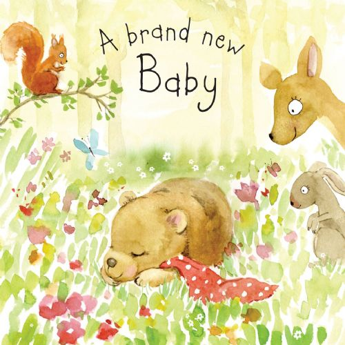 FIZ6 - New Baby Card Bear Cub